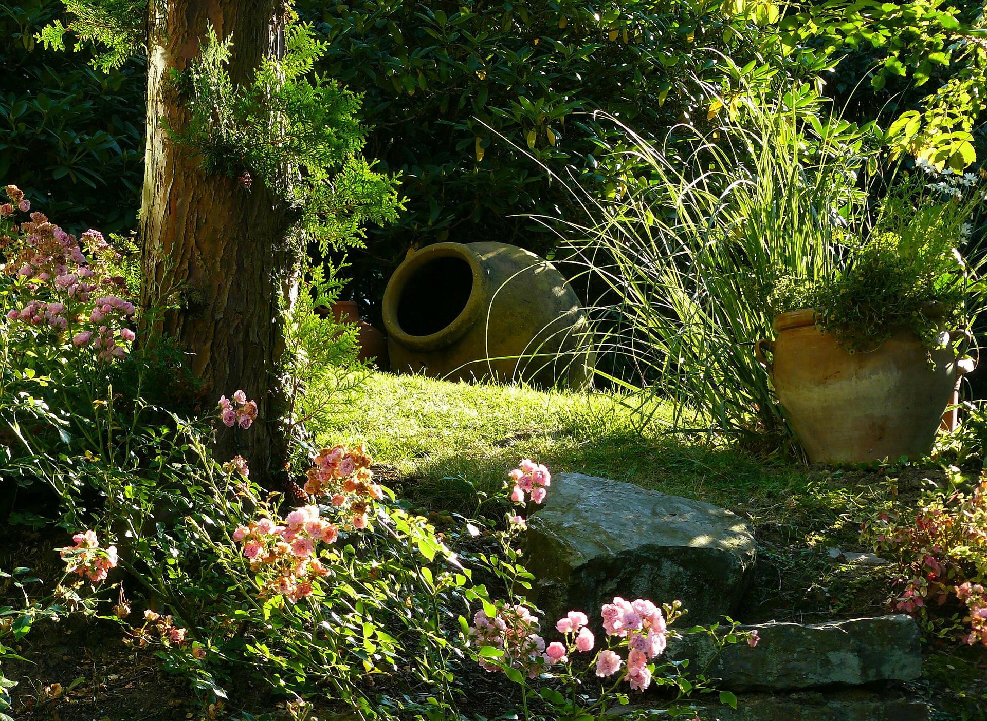 Traditional flower garden