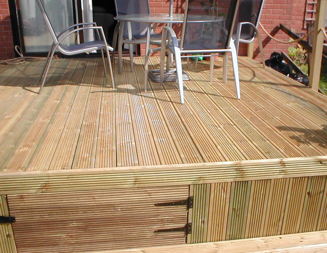 garden storage deck