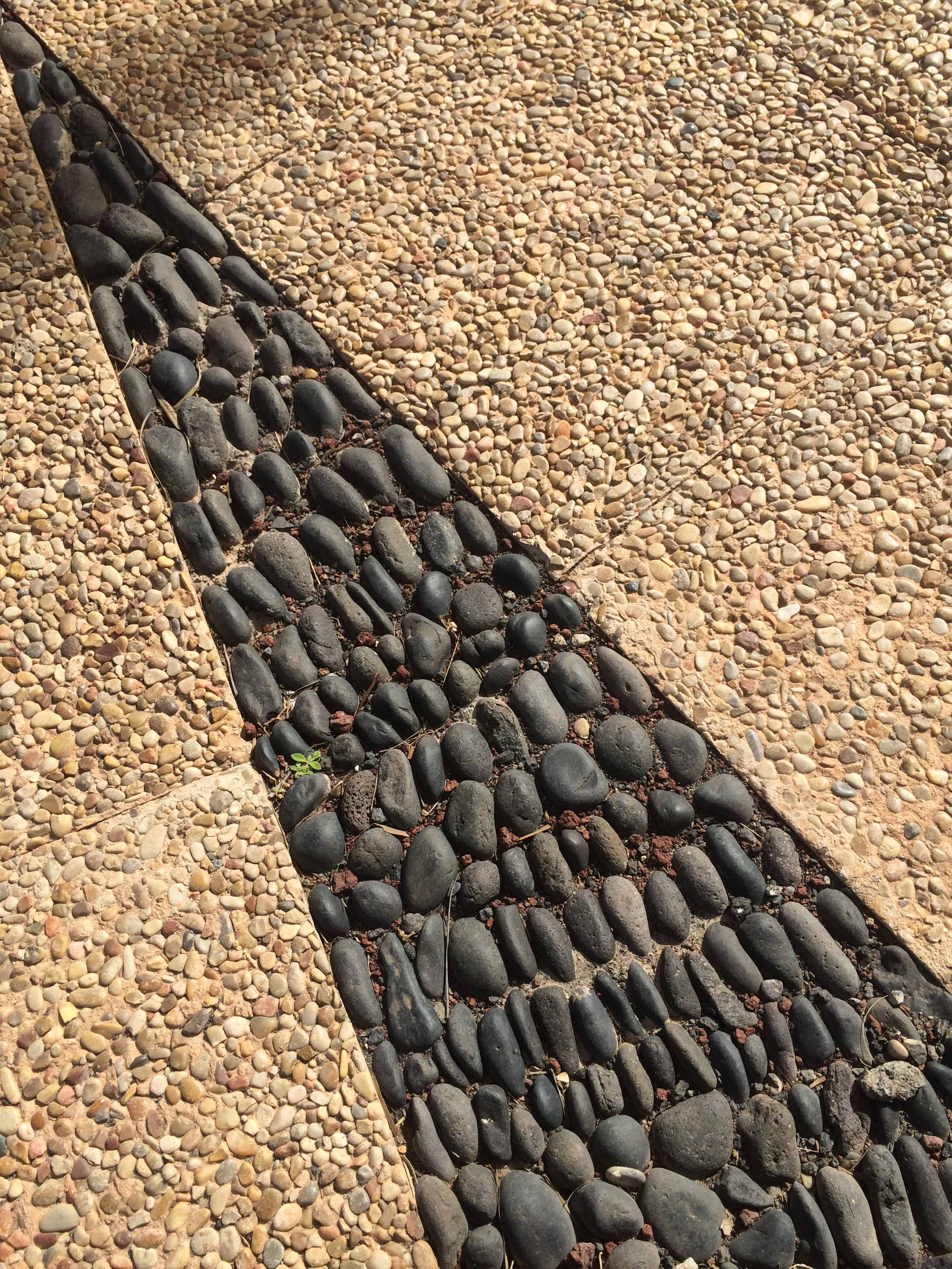 cobble and gravel pathway