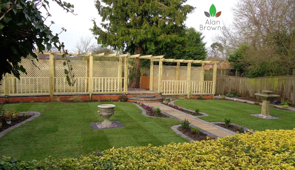 Traditional garden Victorian garden